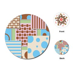 Part Background Image Playing Cards (Round)