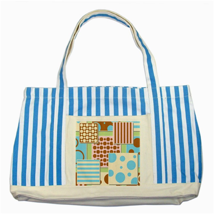 Part Background Image Striped Blue Tote Bag