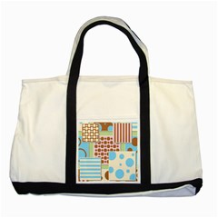 Part Background Image Two Tone Tote Bag