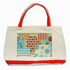 Part Background Image Classic Tote Bag (red)
