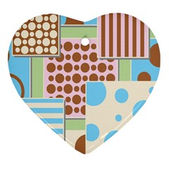 Part Background Image Heart Ornament (two Sides)