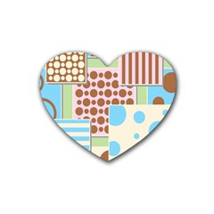 Part Background Image Heart Coaster (4 Pack)