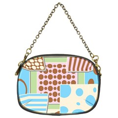 Part Background Image Chain Purses (two Sides)