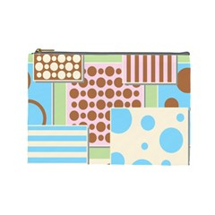 Part Background Image Cosmetic Bag (Large)