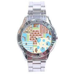 Part Background Image Stainless Steel Analogue Watch