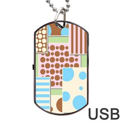 Part Background Image Dog Tag Usb Flash (two Sides)