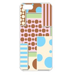 Part Background Image Apple iPhone 5 Seamless Case (White)
