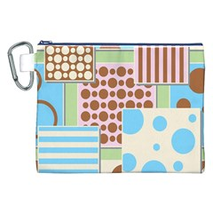 Part Background Image Canvas Cosmetic Bag (xxl)
