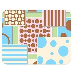 Part Background Image Double Sided Flano Blanket (Medium)