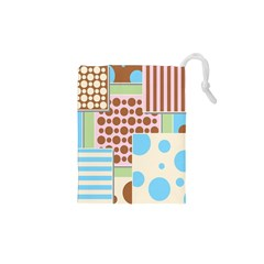 Part Background Image Drawstring Pouches (XS)