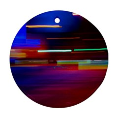 Abstract Background Pictures Ornament (round)