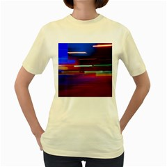 Abstract Background Pictures Women s Yellow T-Shirt