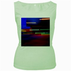 Abstract Background Pictures Women s Green Tank Top