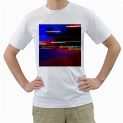 Abstract Background Pictures Men s T Shirt (white) (two Sided)
