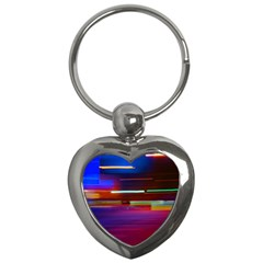 Abstract Background Pictures Key Chains (Heart)