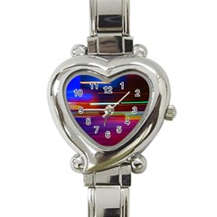 Abstract Background Pictures Heart Italian Charm Watch