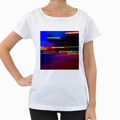 Abstract Background Pictures Women s Loose-Fit T-Shirt (White)