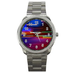 Abstract Background Pictures Sport Metal Watch