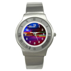 Abstract Background Pictures Stainless Steel Watch