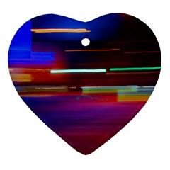 Abstract Background Pictures Heart Ornament (Two Sides)