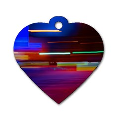 Abstract Background Pictures Dog Tag Heart (two Sides)
