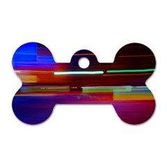 Abstract Background Pictures Dog Tag Bone (One Side)