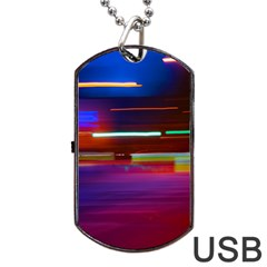 Abstract Background Pictures Dog Tag USB Flash (Two Sides)