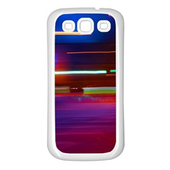 Abstract Background Pictures Samsung Galaxy S3 Back Case (White)