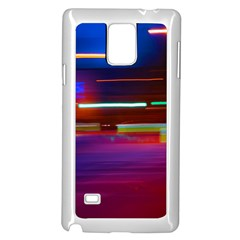 Abstract Background Pictures Samsung Galaxy Note 4 Case (White)