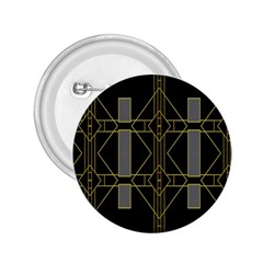 Simple Art Deco Style Art Pattern 2.25  Buttons
