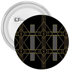 Simple Art Deco Style Art Pattern 3  Buttons