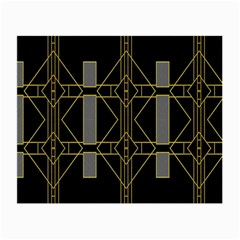Simple Art Deco Style Art Pattern Small Glasses Cloth