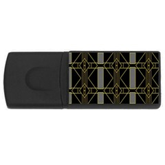 Simple Art Deco Style Art Pattern Usb Flash Drive Rectangular (4 Gb)