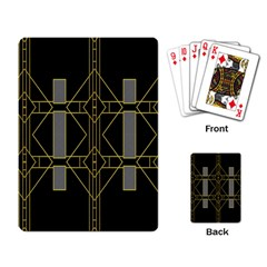 Simple Art Deco Style Art Pattern Playing Card