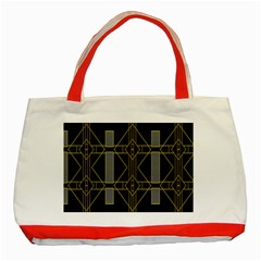 Simple Art Deco Style Art Pattern Classic Tote Bag (red)