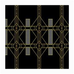 Simple Art Deco Style Art Pattern Medium Glasses Cloth