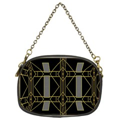 Simple Art Deco Style Art Pattern Chain Purses (two Sides)
