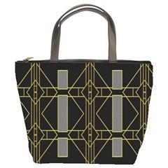 Simple Art Deco Style Art Pattern Bucket Bags