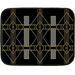 Simple Art Deco Style Art Pattern Fleece Blanket (Mini)