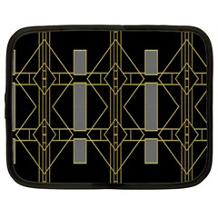 Simple Art Deco Style Art Pattern Netbook Case (XL)