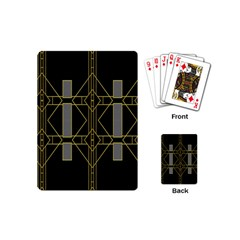 Simple Art Deco Style Art Pattern Playing Cards (Mini)