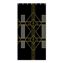 Simple Art Deco Style Art Pattern Shower Curtain 36  X 72  (stall)