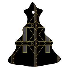 Simple Art Deco Style Art Pattern Ornament (Christmas Tree)