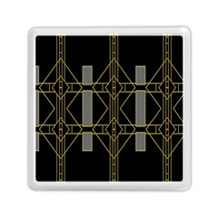 Simple Art Deco Style Art Pattern Memory Card Reader (square)