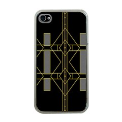Simple Art Deco Style Art Pattern Apple iPhone 4 Case (Clear)