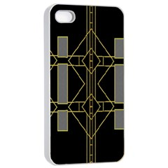 Simple Art Deco Style Art Pattern Apple Iphone 4/4s Seamless Case (white)