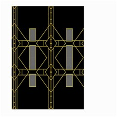 Simple Art Deco Style Art Pattern Large Garden Flag (Two Sides)