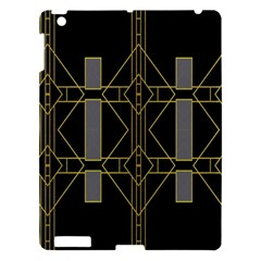 Simple Art Deco Style Art Pattern Apple iPad 3/4 Hardshell Case