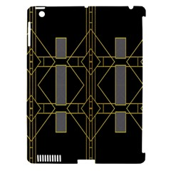 Simple Art Deco Style Art Pattern Apple Ipad 3/4 Hardshell Case (compatible With Smart Cover)