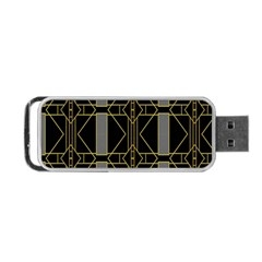 Simple Art Deco Style Art Pattern Portable USB Flash (Two Sides)